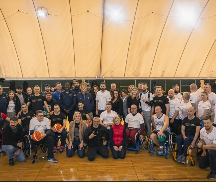 Team Ukraine's open training was held on February 18, 2020