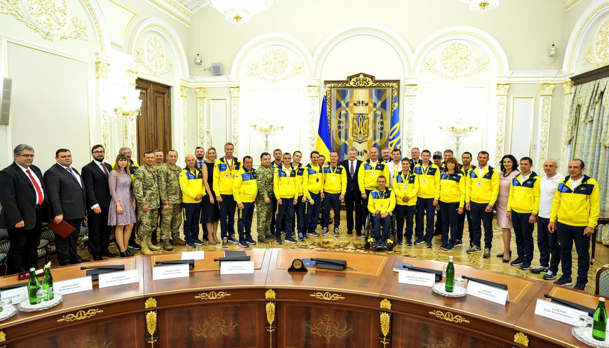 UKRAINE'S INVICTUS GAMES WINNERS AWARDED DECORATIONS BY THE PRESIDENT